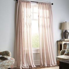 Pier 1 Imports: Quinn Sheer Curtain - Blush  84'' $29.95 per panel (online only)