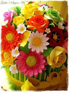 Cake Bouquet of Flowers Cake