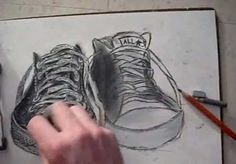 How to draw Converse All-Stars - Low Rise - Video Lessons of Drawing & Painting