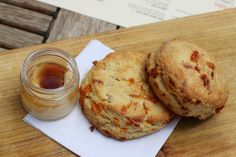 Bacon and honey biscuits at Chop Shop in Chicago.