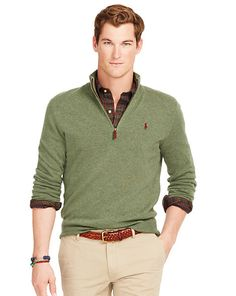 2e77aefac21 Shop for Merino Half-Zip Sweater by Polo Ralph Lauren at ShopStyle.