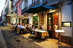 Alfaia Restaurant in Bairro Alto, Lisbon, Portugal    #‎Lisbon‬ city break - all that glistens is most definitely gold in Portugal's capital | Via The Mirror  Lisbon, city of trams and treasures, museums and monuments, shopping and schlepping, hills and highs, cobblestones and custard tarts, alleys and allure.  The list is endless - so much to see, so much to experience.  Local recommend at least a week to do Portugal's capital justice
