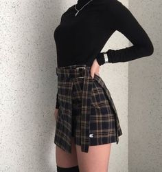 All-black black out Korean aesthetic black clothing outfit soft girl aesthetics ulzzang fashion L e l i a L' a r t Edgy Outfits, Fall Fashion Outfits, Mode Outfits, Korean Outfits, Grunge Outfits, Skirt Outfits, Autumn Fashion, Winter Outfits, Summer Outfits