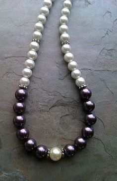 Large unique natural gemstone statement necklace opera length beryl bead and pearl necklace artisan handmade with sterling silver clasp