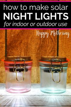 Learn how to make the best DIY solar lanterns that can be used indoors or outdoors in our easy and cheap step by step project. Ideas for using these festive solar lights include as nightlights or to light a walkway or fence or highlight your garden. Also perfect for power outages if you keep them charged.#diy #howto #solarlights #solarlanterns #diysolarlights #diysolarlanterns #nightlights #gardenlights #homedecor #crafts #modpodge #solar #solarprojects #easycrafts #homemaking Solar Projects, Diy Craft Projects, Project Ideas, Craft Ideas, Kid Crafts, Solar Lanterns, Solar Lights, Vintage Mason Jars, Green Craft
