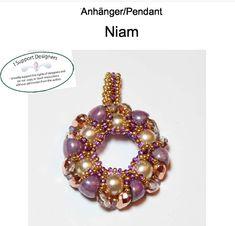 Návody   G&B beads Beads, Pendant, Tutorials, Design, Beading, Hang Tags, Bead, Pendants