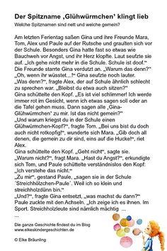Der Spitzname 'Glühwürmchen' klingt lieb, oder? * Elkes Kindergeschichten German Language, Storytelling, Education, Words, Kindergarten, Children, Blog, Too Nice, Reading