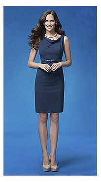 New York and Company - Rich Blue Pleated Sheath Dress, Natural Blueberry $64.95