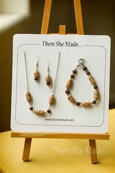 Such a cute way to display a jewelry set.