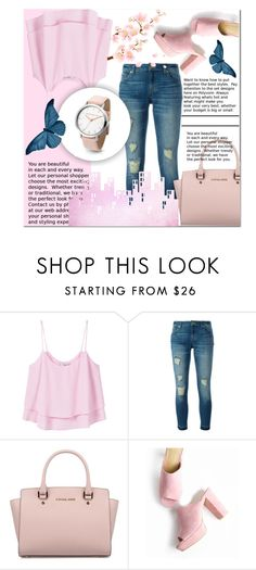 """Bez naslova #27"" by rabbitbeery ❤ liked on Polyvore featuring MANGO, MICHAEL Michael Kors and Michael Kors"