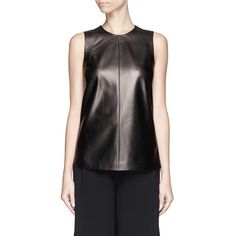 Proenza Schouler Vent back leather tank top (€1.020) ❤ liked on Polyvore