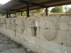 The #shields and #thoraxes devoted by #AlexanderTheGreat over #Battle in Granikos. From #archaeological Site of Dion.