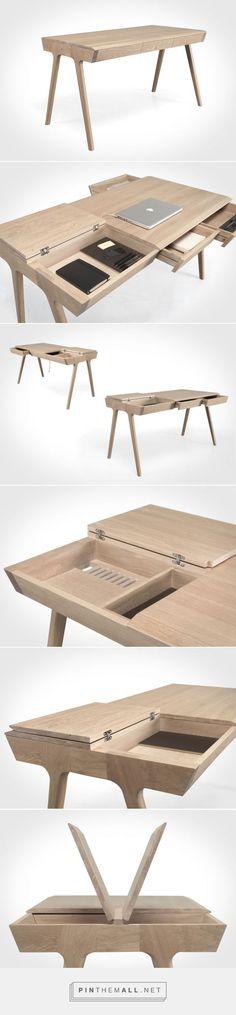 Smart Furniture, Wood Furniture, Modern Furniture, Furniture Design, Home Office Design, House Design, Office Decor, Design Tisch, Wood Design