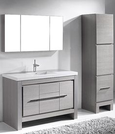 Vicenza vanity by Madeli - but with handkerchief vessel sink above