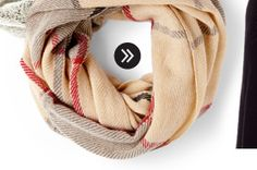 Shop Checkered Infinity Scarf