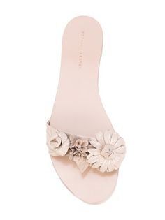 Sophia Webster floral applique flat sandals