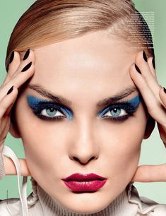 Beauty in Allure Russia with Snejana Onopka wearing Celine - - Fashion Editorial Eye Makeup, Beauty Makeup, Hair Beauty, Makeup Art, Bold Makeup Looks, Dramatic Makeup, Gorgeous Makeup, Lund, Beauty Editorial