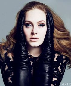 She has awesome hair! Adele Adkins Vogue US March 2012