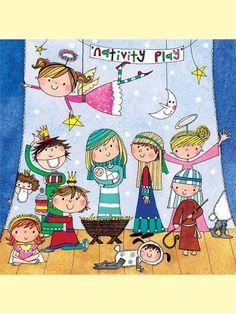 RACHEL ELLEN DESIGNS- CHRISTMAS JIGSAW & GREETING CARD-NATIVITY PLAY