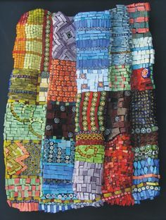 Keep Me Warm ~ quilt in mosaic by Julie Dilling