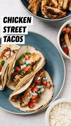 Lunch Recipes, Healthy Dinner Recipes, Mexican Food Recipes, Cooking Recipes, Enchiladas, Chicken Taco Recipes, Taco Chicken, Comida Latina, Pico De Gallo