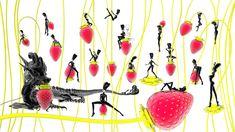 Hye Rim Lee Strawberry Garden Lucid Dream, red 2013 inkjet print, x Strawberry Garden, Lucid Dreaming, June, Red, Strawberries Garden