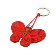 Butterfly Leather Key Chain