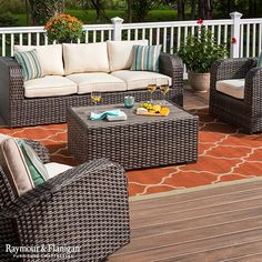 Transform your patio into a relaxing getaway for you and your guests. Explore our whole collection of outdoor living furniture!