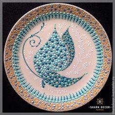 """Купить Декоративная тарелка """"Бабочка 3D"""" - тарелка, Тарелка декоративная, тарелка сувенирная, тарелка настенная"""