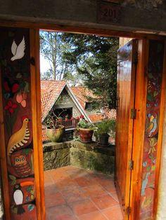 Entrance to the Eduardo Vega ceramics gallery/workshop in Cuenca, Ecuador
