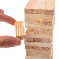 Classic Jenga Tower Set 48 Pcs Building Block Games, Jenga Tower, Steam Toys, Jenga Blocks, Engineering Toys, Jenga Game, Vintage Toys, Classic, Derby