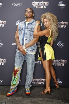 Getting better:Nelly, 45, and pro Daniella Karagach also earned 24 points for their samba to Rhythm Of The Night by DeBarge Dancing With The Stars, Samba, Dance, Fashion, Dancing, Moda, La Mode, Fasion, Fashion Models
