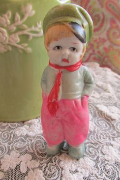 Vintage Penny Doll/ Frozen Charlotte Bisque by recycledrita