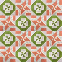 Block 10: Disappearing pinwheel quilt sampler