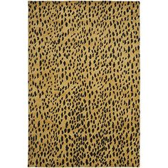 "Safavieh Soho Collection SOH721A Handmade Beige and Brown Premium Wool Area Rug (3'6"" x 5'6"")"