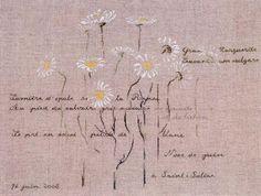 Marguerites de Saint-Suliac From Marie-Th�r�se Saint-Aubin - Cross Stitch Charts - Embroidery - Casa Cenina