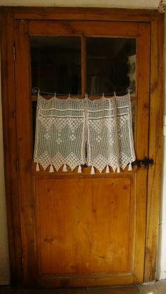 réalisés pour une amie qui ne crochete pas, rideau, crochet, phildar, editions de saxe, coton, bellilois, curtain, pattern, tuto