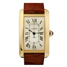 CARTIER Yellow Gold Tank Americaine XL Automatic Wristwatch