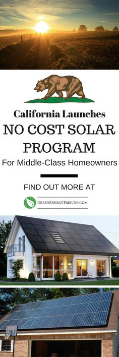 California is one of the best states in the country if you want to go solar. The cost for the installation to the middle class families: nothing. The homeowner gets solar panels on their roof and a new reduced electric rate.