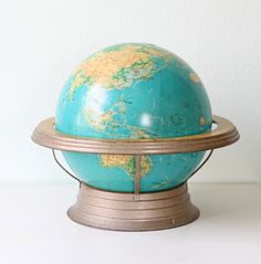 "Retro Cram's 12"" Globe and Base."