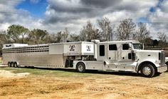 Here's a shot of one of our customer's rigs they sent in yesterday. Horsegate Polo from Hempstead, TX is gearing up for the season with their custom built 4-Star 12 Horse Slant Polo w/ Air-Ride (53' total length) they ordered from us last year. This was their 3rd 4-Star from us. Good luck Horsegate! (877) 543-0733 Rv Truck, Big Rig Trucks, Cool Trucks, Semi Trucks, Converted Horse Trailer, Horse Trailers For Sale, Stock Trailer, Gooseneck Trailer, Luxury Rv