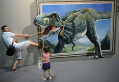 35 Awesome 3D Interactive Paintings - Magic Art works at Special Exhibition. Follow us www.pinterest.com/webneel