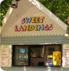 Sweet Landings located inside Splish Splash Water Park on Long Island serves your favorite snacks such as Funnel Cakes, Pretzels, Cookies, Good Humor Ice Cream, Cotton Candy, Chips, Roasted Nuts, Popcorn and beverages.   Items are subject to change without notice and subject to availability