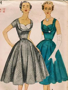 1950s Simplicity 4704 UNCUT Vintage Sewing by midvalecottage, $50.00