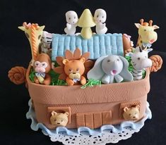 Baby Shower Cake Topper , Ark with Animals Decoration, Animals Ark Decorations , First Birthday Ark Animals Center Piece,Boy's Cake Toppers Noahs Ark Cake, Noahs Ark Theme, 1st Birthday Cake Topper, 1st Boy Birthday, Birthday Cakes, Baby Shower Cakes, Baby Boy Shower, Baby Cakes, Baby Showers
