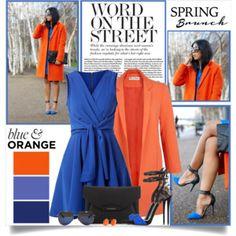 Spring Brunch in Blue and Orange