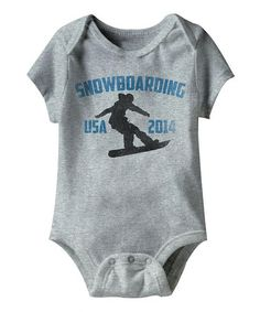 Look what I found on #zulily! Gray 'Snowboarding' Bodysuit - Infant #zulilyfinds