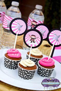 Ninja Girl Birthday Party Decorations Pack by PrettyLilPartiesLV