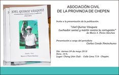 Publicación dedicada a Joel Quiroz Vásquez. #chepen