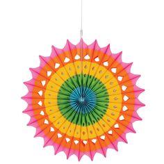 Multicolor Hanging Fan Decoration 16in | Wally's Party Factory #easter #fan #decor